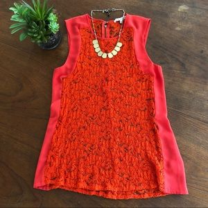 Madewell Broadway & Broome Lace Panel Top